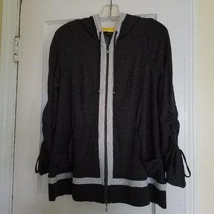 St. John Hooded Zip-Front Casual Jacket Large EUC